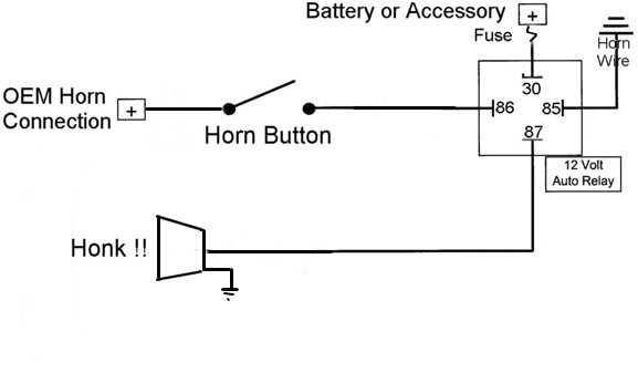 airhorn_wiring_diagram horn diagram wiring strobe wiring diagram \u2022 wiring diagrams j dual horn relay wiring diagram at love-stories.co